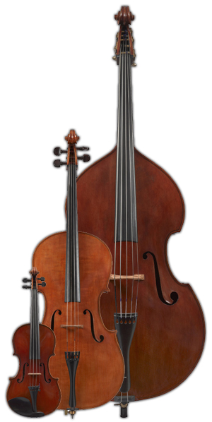 Musical instruments making and restoring: violins, violas, cellos, double basses and bows